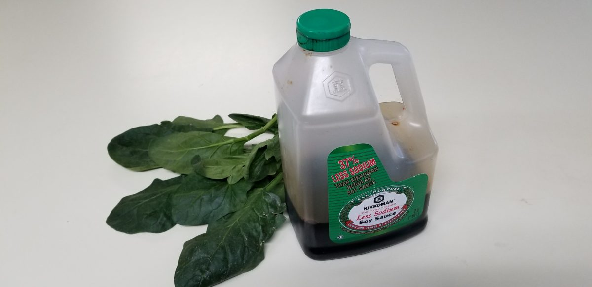 Ingredients for Blanched greens with soy sauce