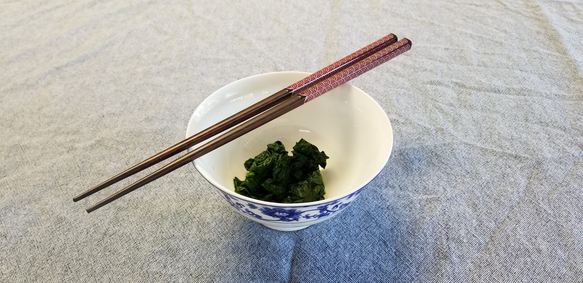 blanched greens with soy sauce (ohitashi)
