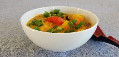 red thai pumpkin curry