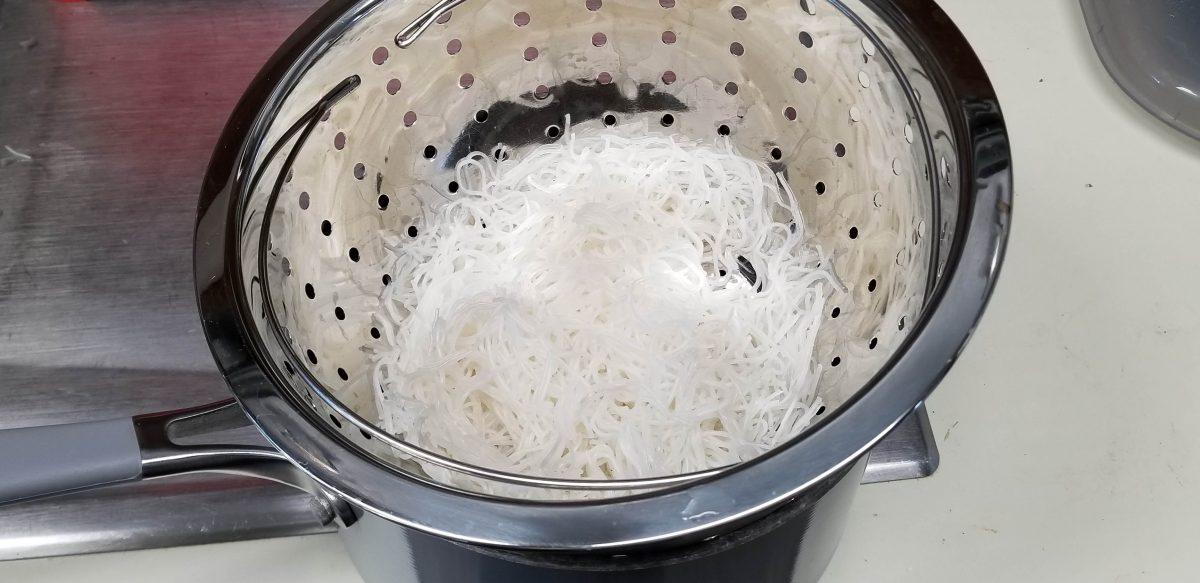 strain rice noodles