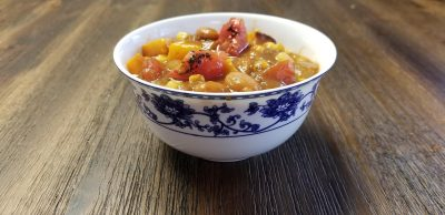 Vegan Mexican Pumpkin Chili finished product