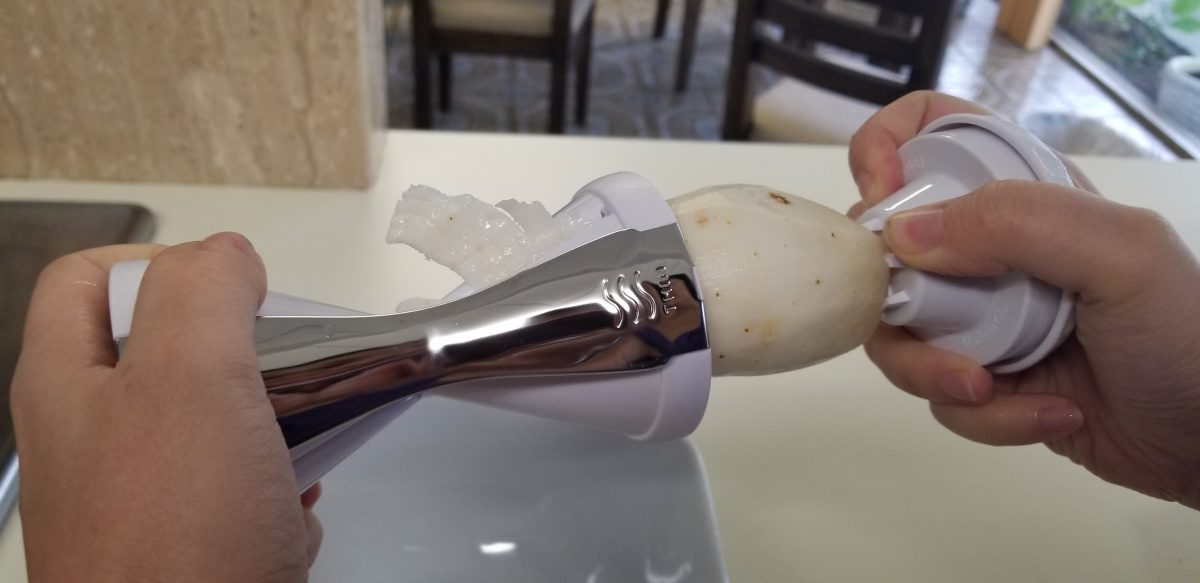 spiralize a white tuber