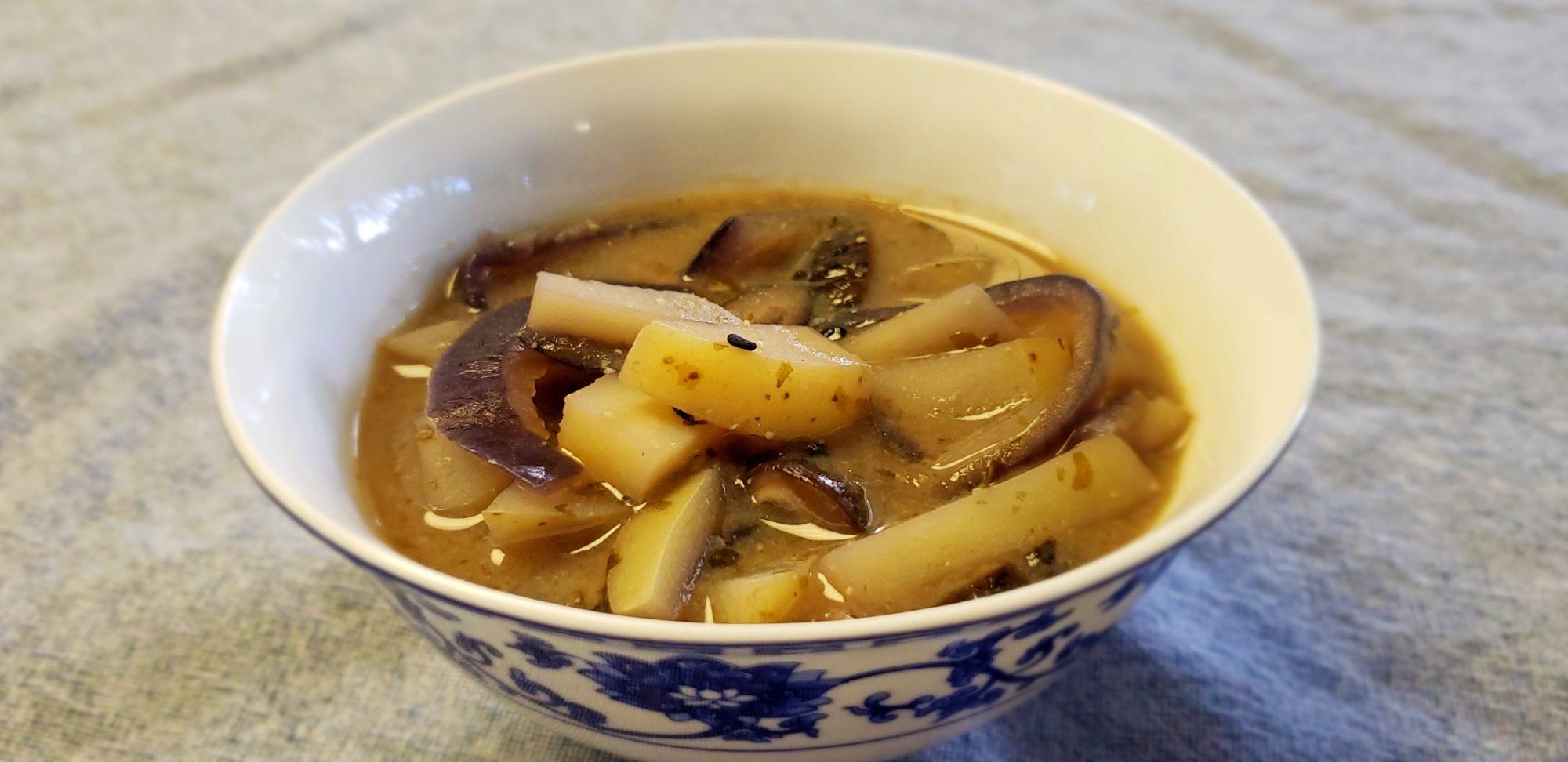 Potato and Miso Soup