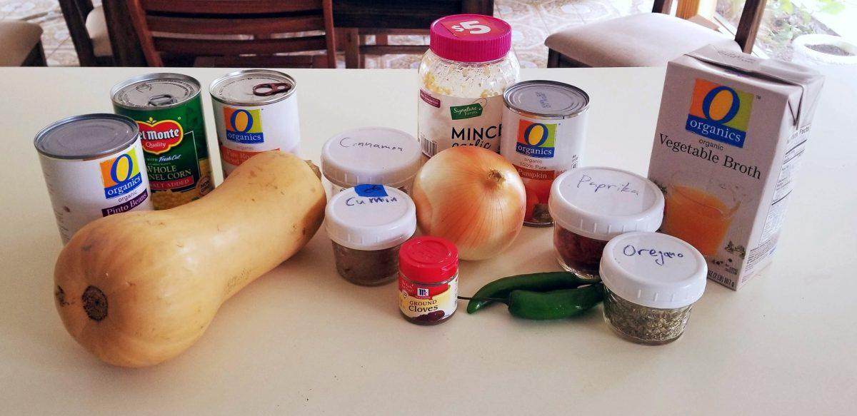 Vegan Pumpkin Chili Recipe Ingredients