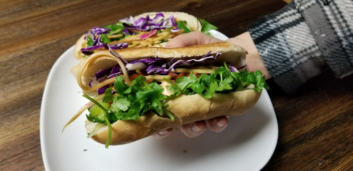 finished vegan bahn mi