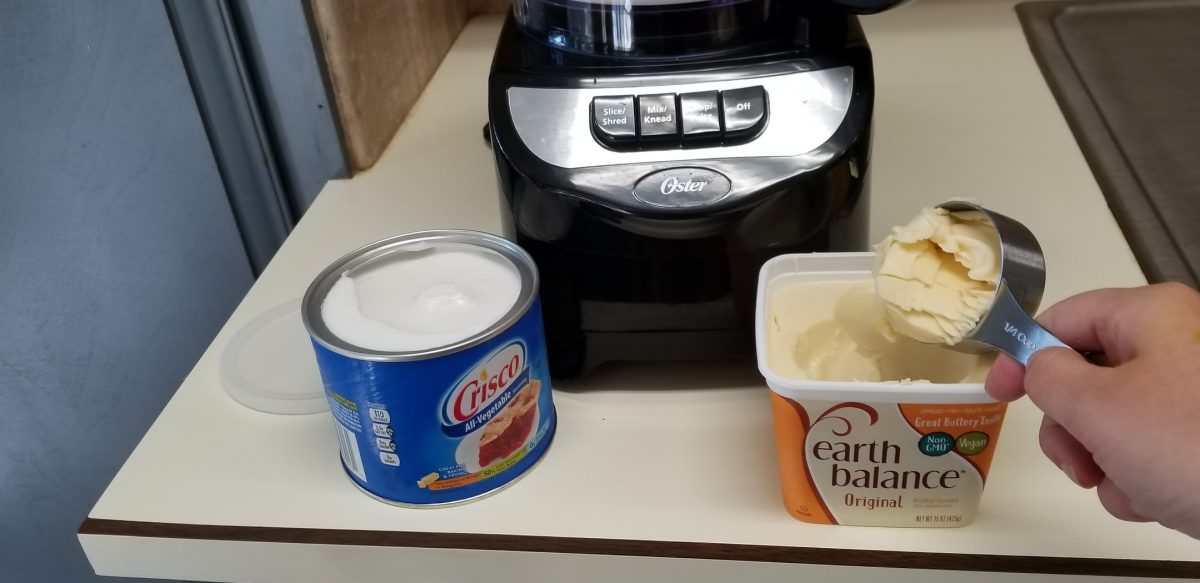 adding crisco and earth balance to vegan pie crust