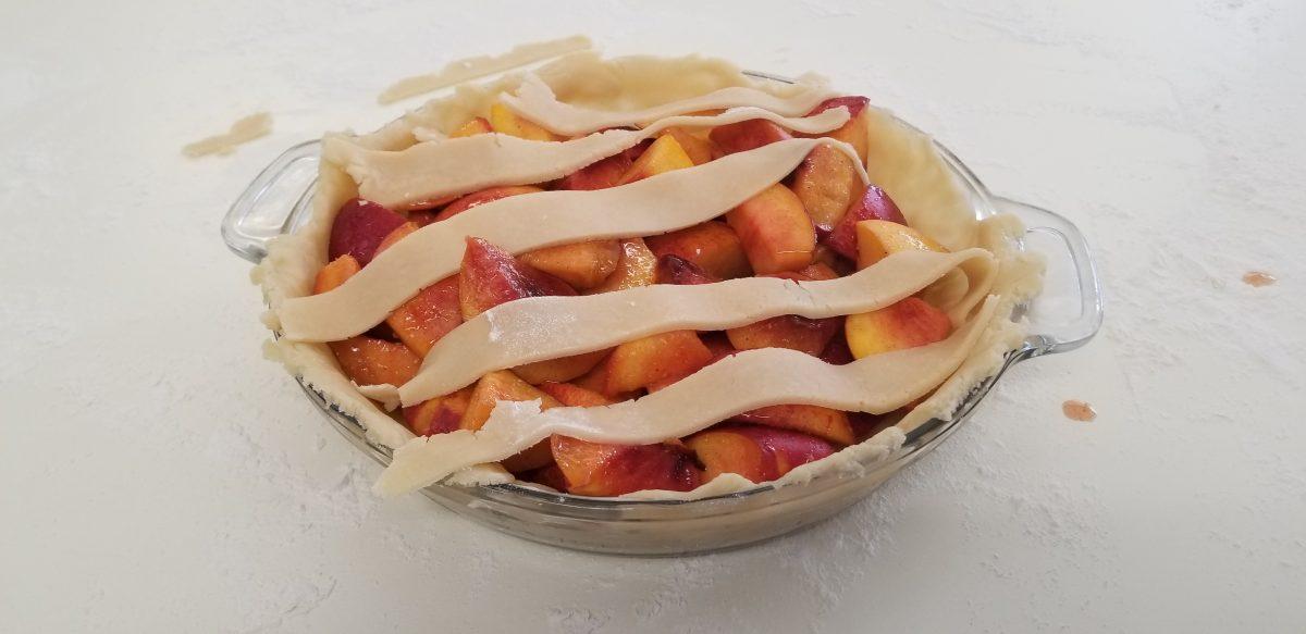 vegan pie before baking