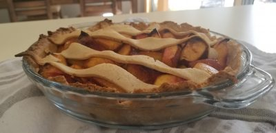 nectarine pie with easy vegan pie crust