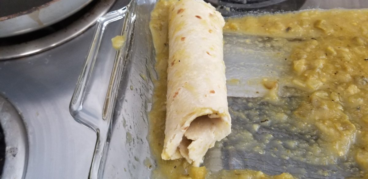 roll a vegan enchilada step 4