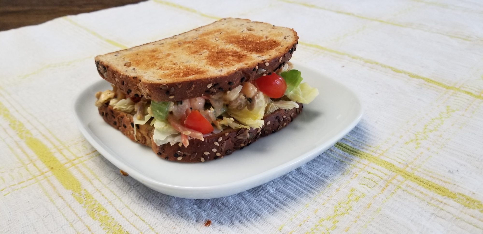 finished vegan tuna sandwich