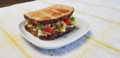 finished vegan tuna sandwich