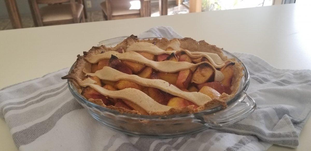Nectarine Pie Recipe Finished
