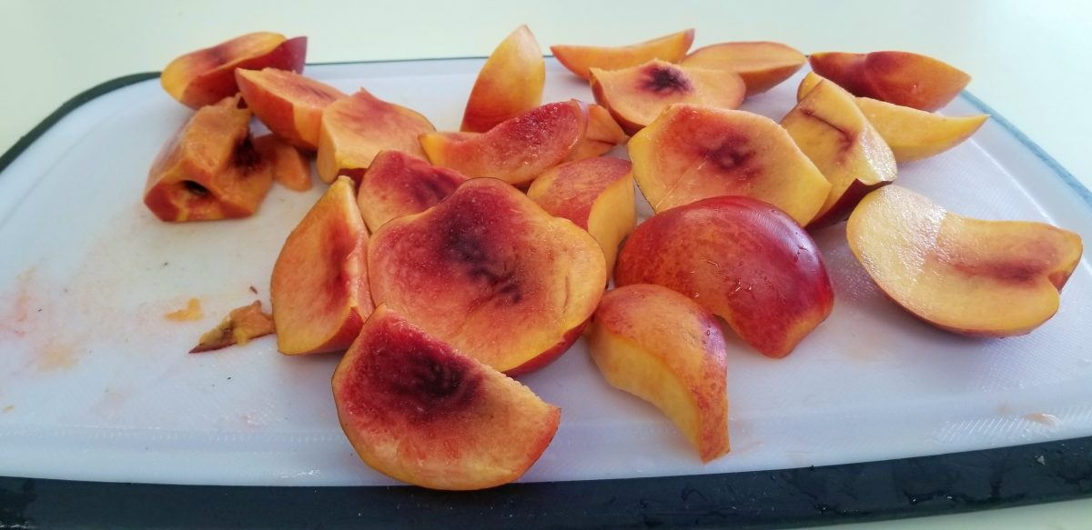 cut Nectarines bright