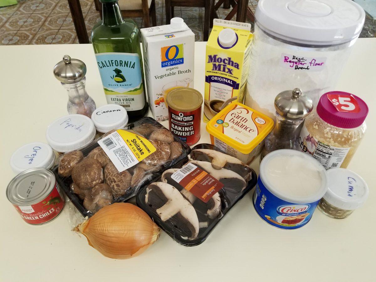 ingredients for vegan empanadas