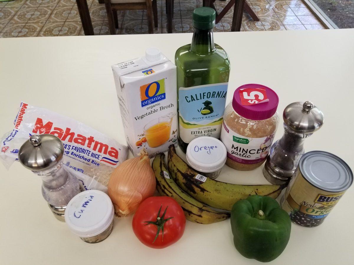 ingredients for vegan empanada filling with corn dough