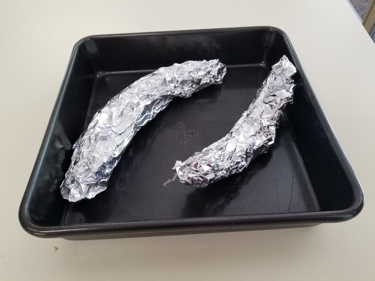 plantains wrapped in foil