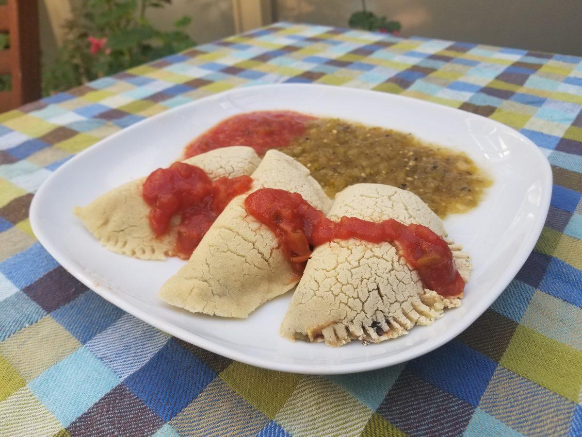 corn crusted empanadas