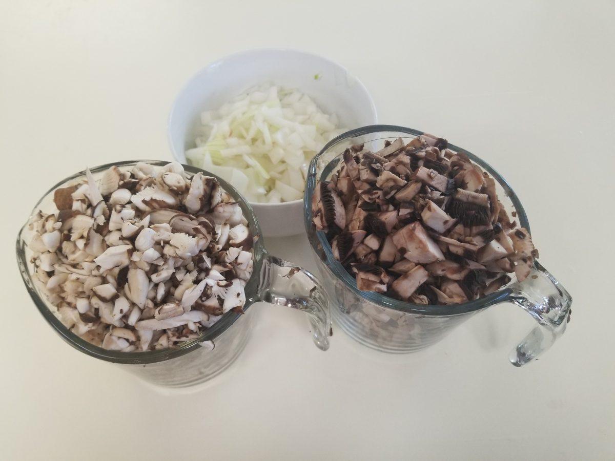 diced ingredients for vegan empanadas
