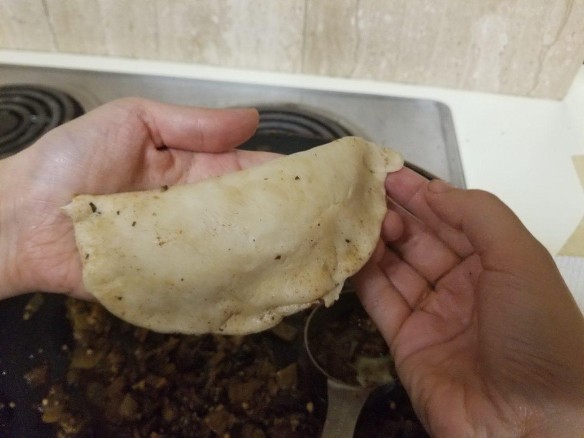 first pinch of empanada