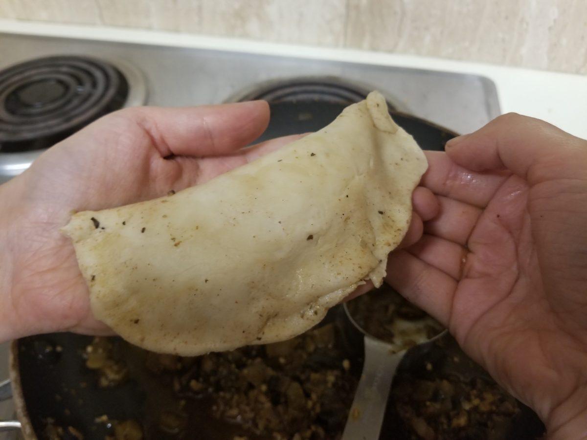 second pinch of vegan empanada