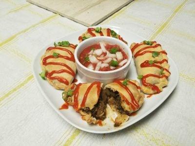 finished vegan empanada