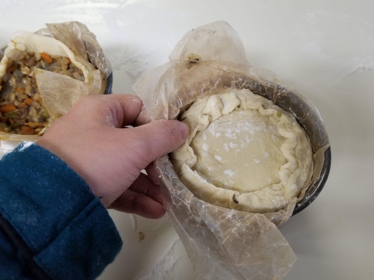 cover vegan haggis pie