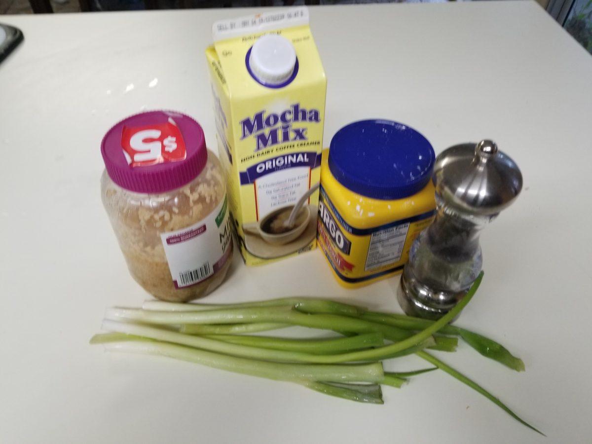 ingredients for vegan white gravy