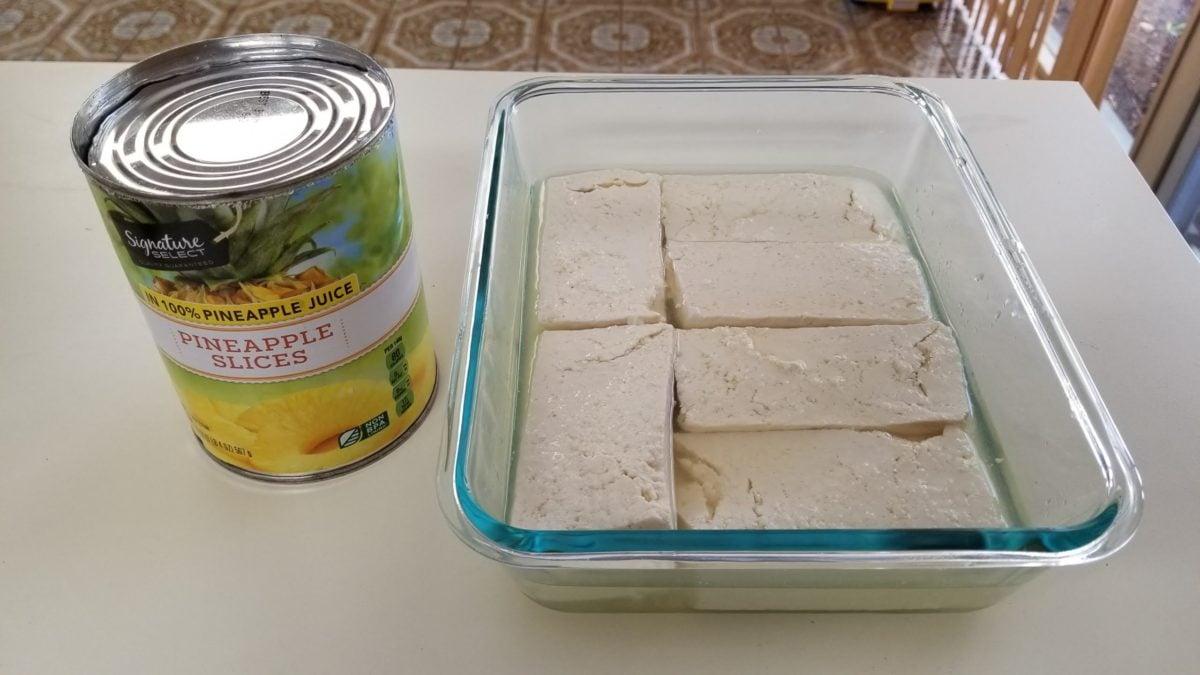 tofu in pineapple juice