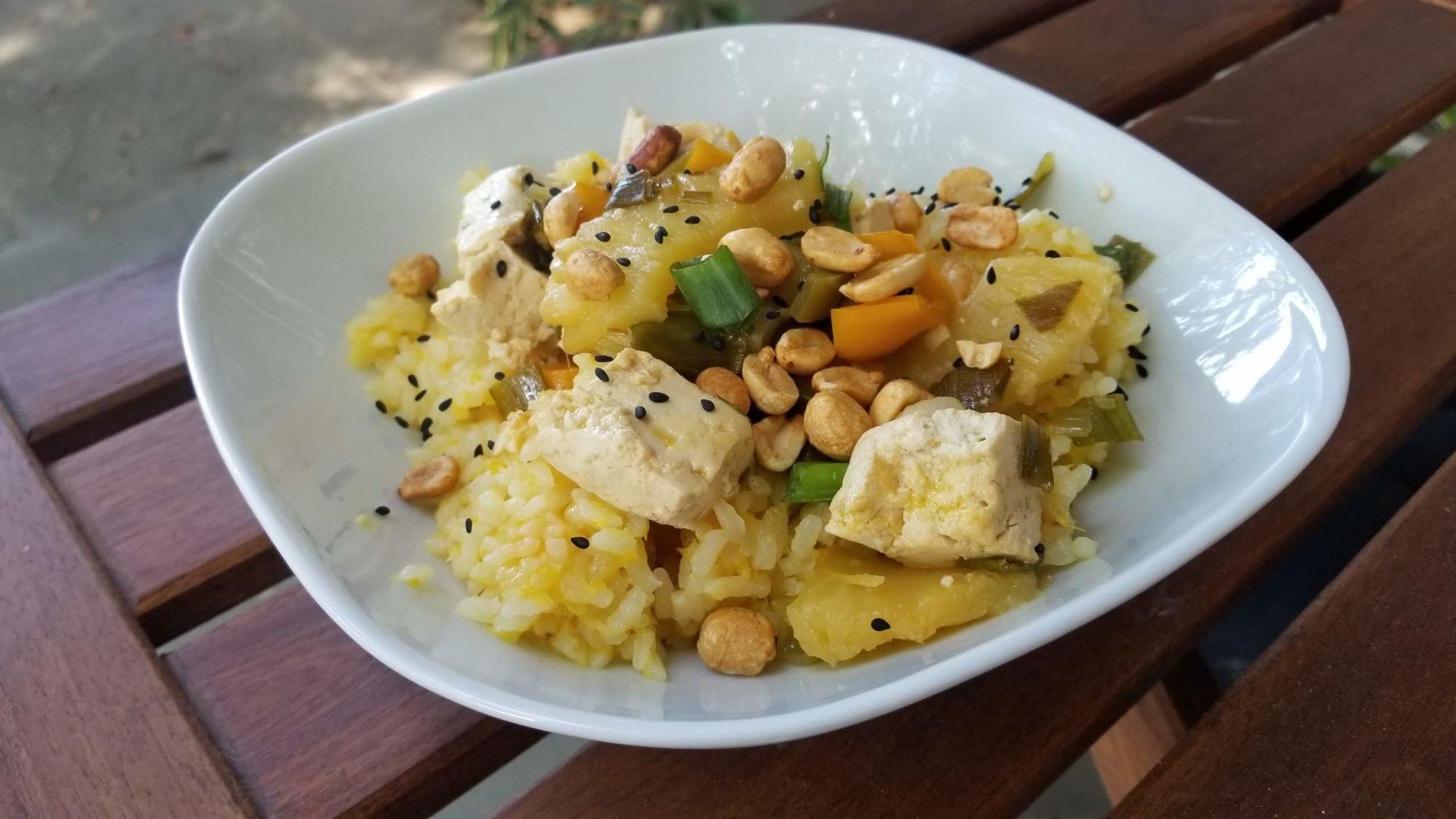 featured image for vegan orange rice
