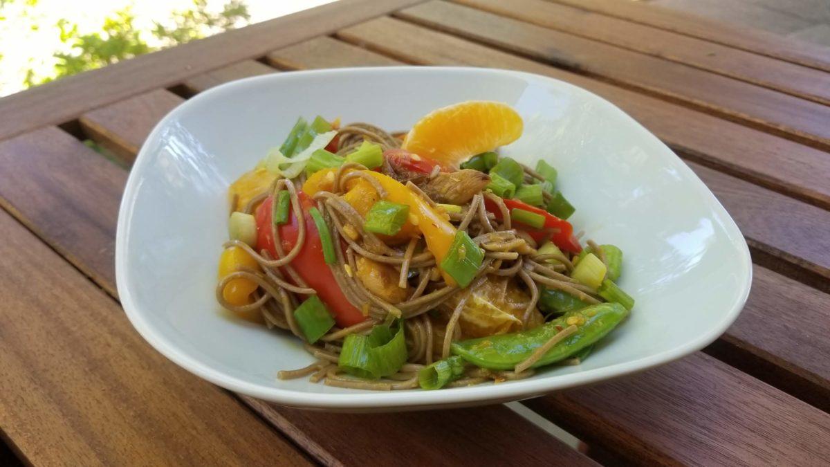 finished vegan orange noodles