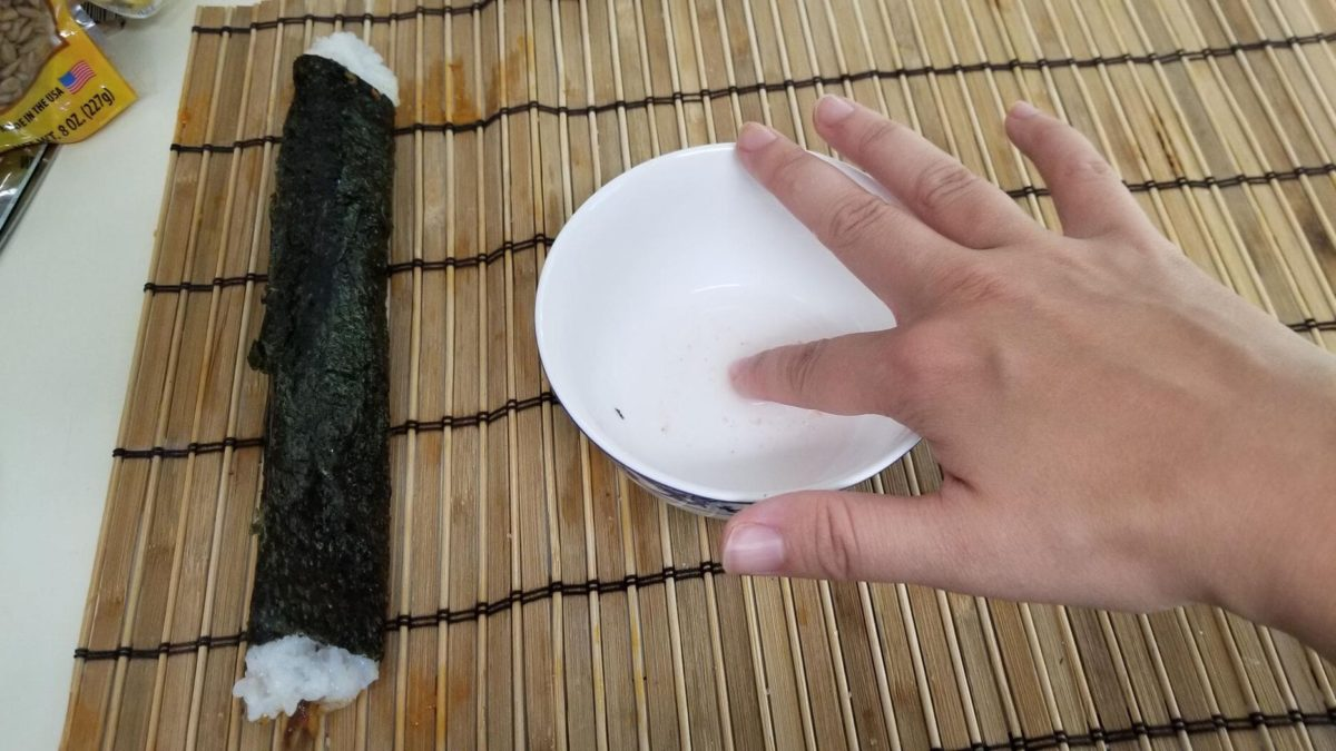 salt water for vegan mushroom sushi きのこ寿司