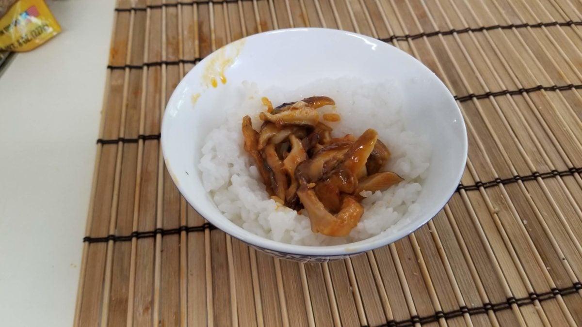 second layer of rice ball きのこ寿司おにぎり