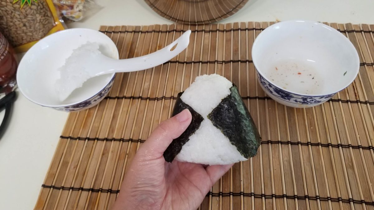 wrap the vegan onigiri