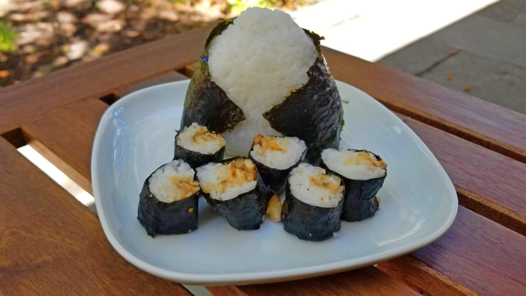 vegan mushroom sushi finished きのこ寿司