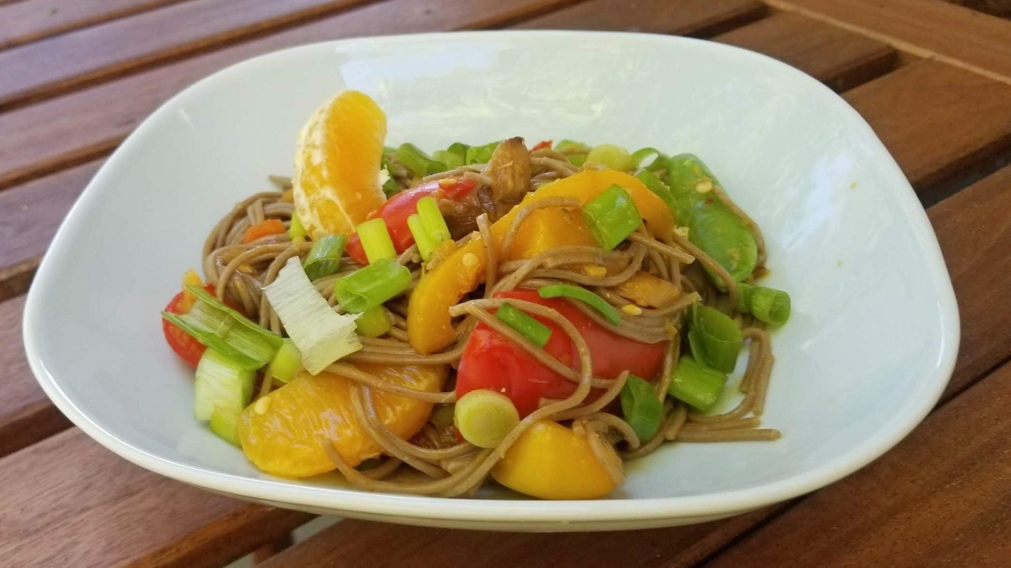 Orange Soba Noodle Stir Fry